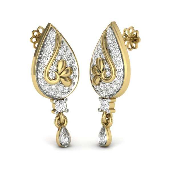 Latkan Type Diamond Earring