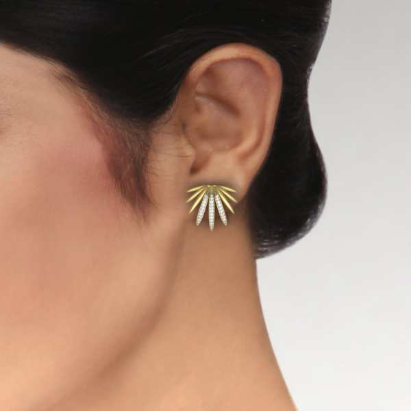 Mapple Leaf Diamond Earring