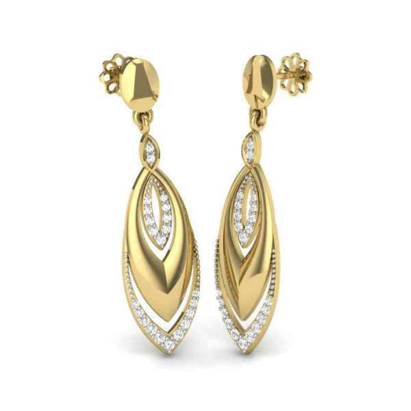 In and Out Diamond Earring