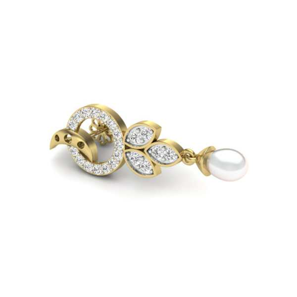 Touch of Pearl Diamond Earring
