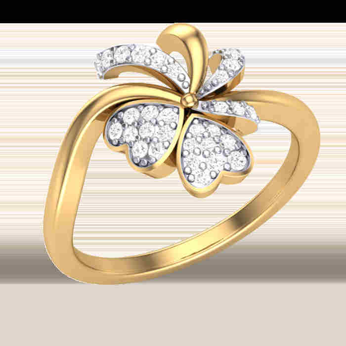 Sweetheart Floral Diamond Ring