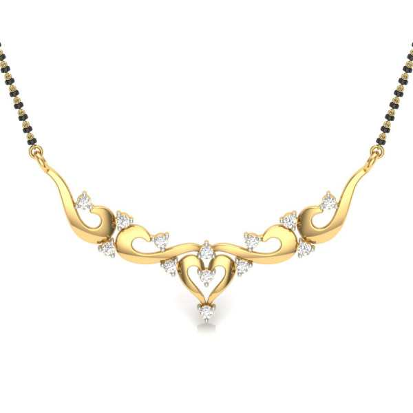 d6ba238c2d020 Diamond Mangalsutra | Latest Diamond Mangalsutra | Diamond ...