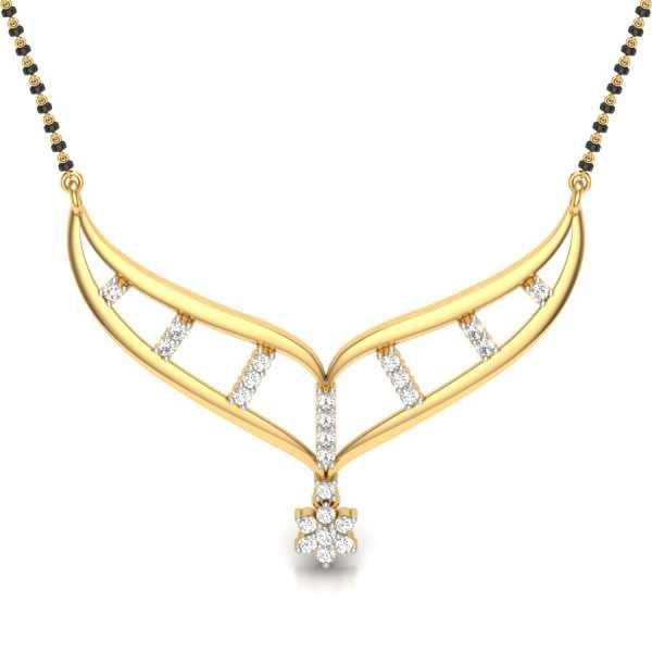 Floral Diamond Mangalsutra