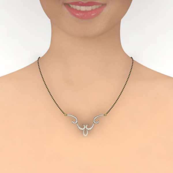 Love Hooks Diamond Mangalsutra