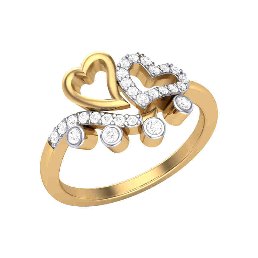 Classic Love Diamond Ring
