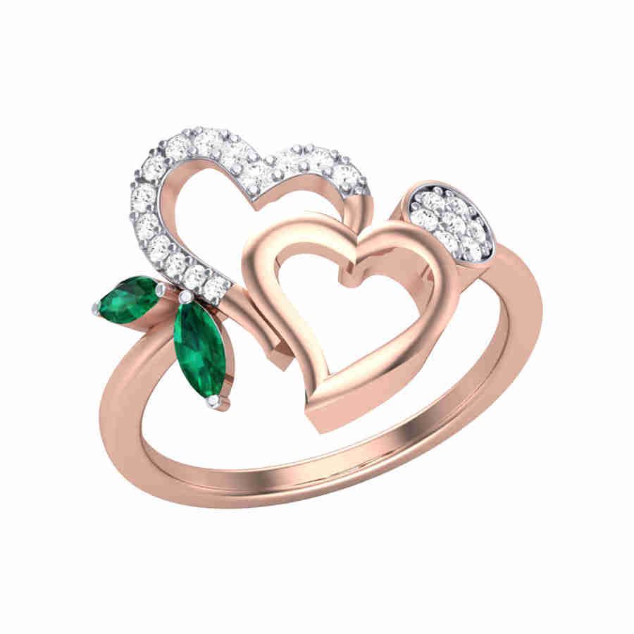 Bond of Hearts Diamond Ring