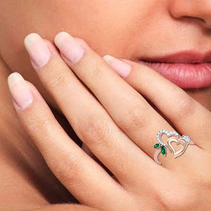 Bond of Hearts Diamond Ring