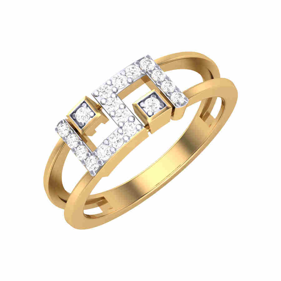 Dual Layer Diamond Ring