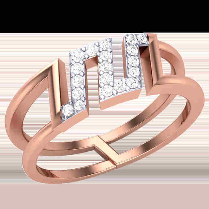 Cut Out Diamond Ring