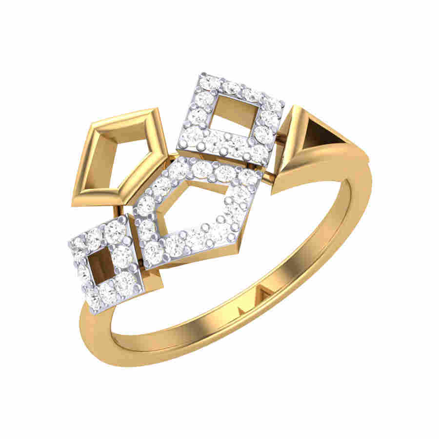Magic of Squares Diamond Ring