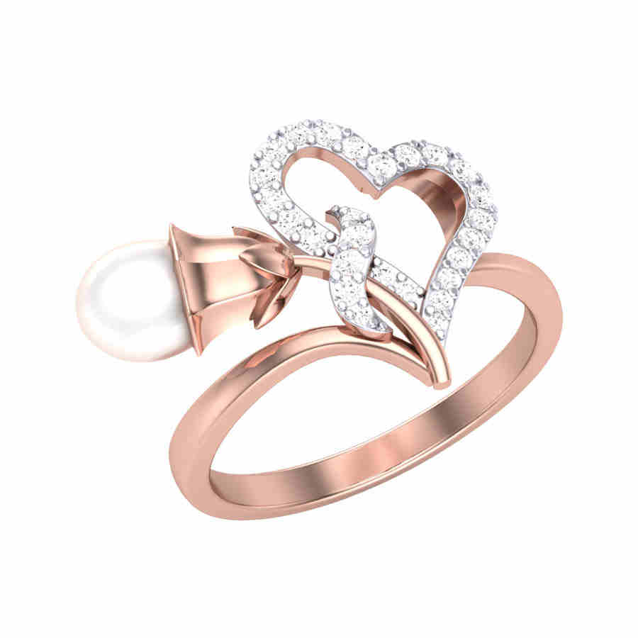 Bell n Heart Diamond Ring