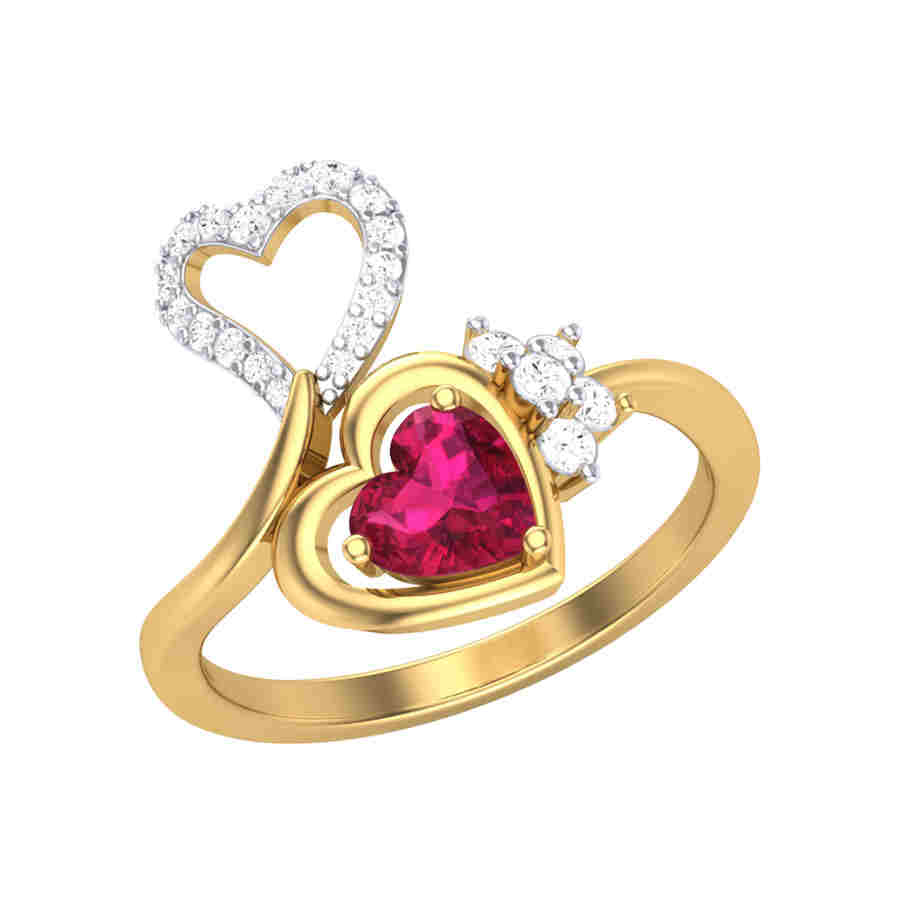 Love for red Diamond Ring