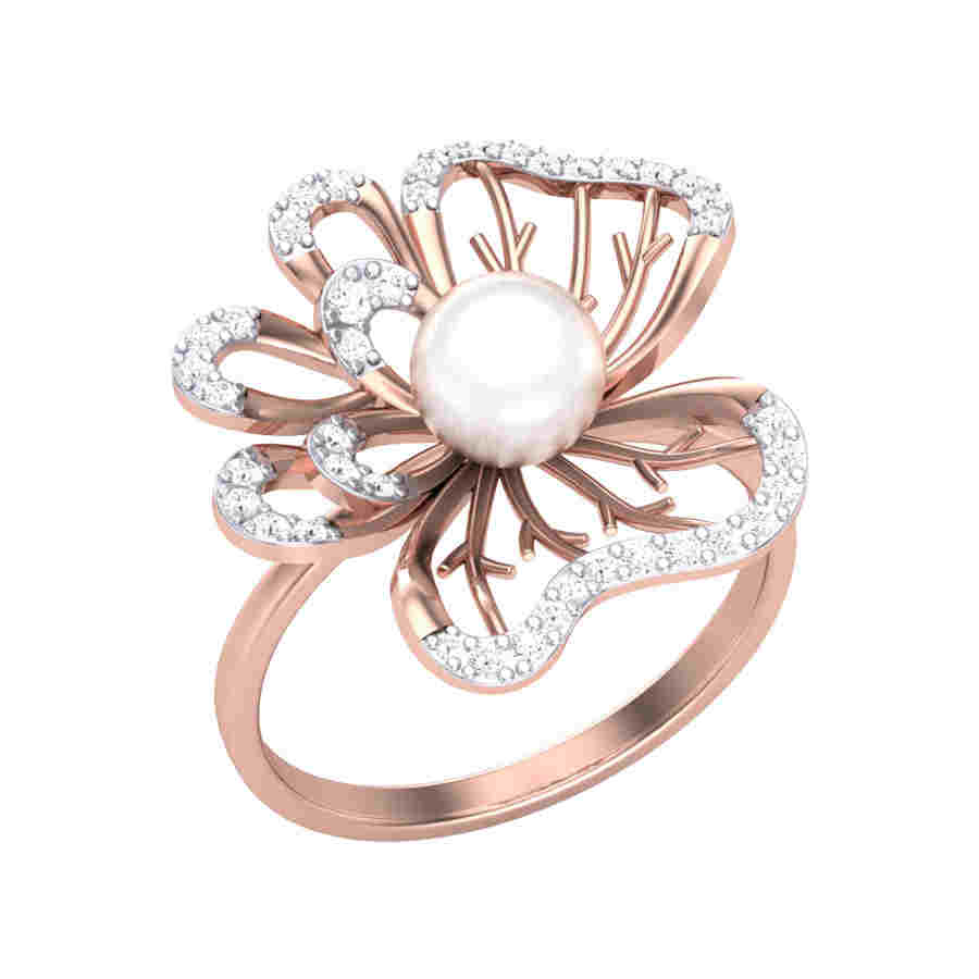 Blossom Rose Diamond Ring