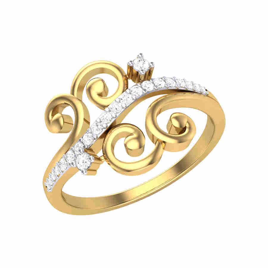 Blossom Grid Diamond Ring
