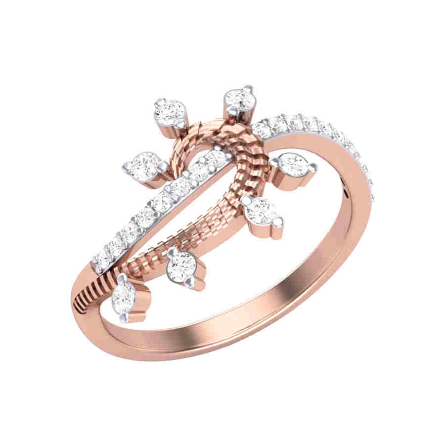 Dazzling Curve Diamond Ring