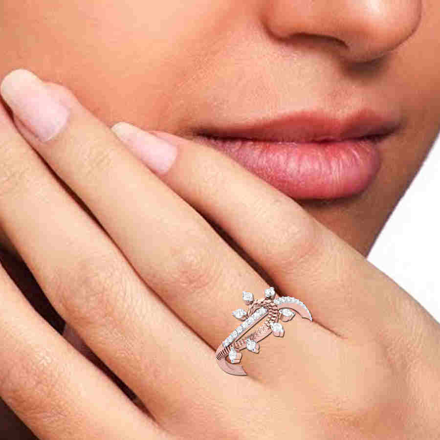 Dazzling Curve Diamond Ring