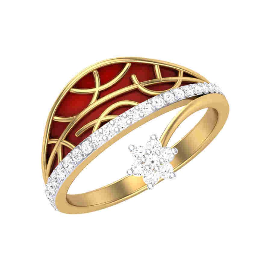 Moon n Star Diamond Ring