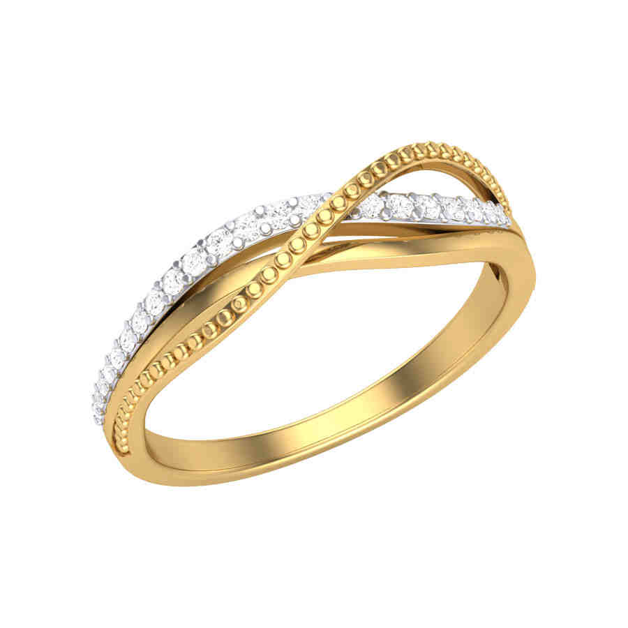 Shine on Overlap Diamond Ring