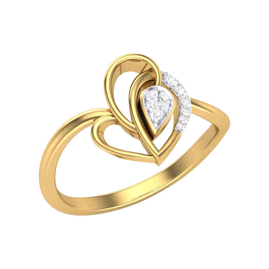 Clutch of Love Diamond Ring
