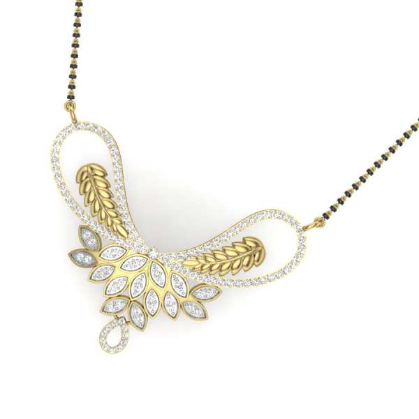 Glittering Leaves Mangalsutra