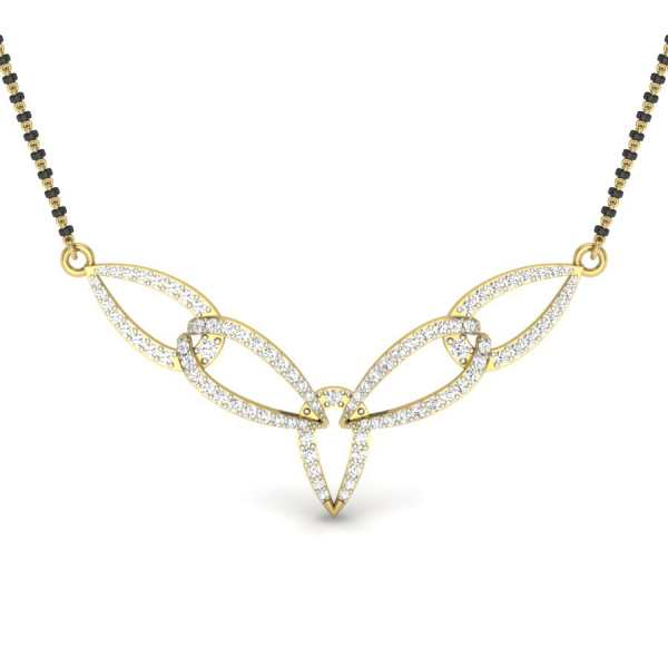 5 Pear Diamond Mangalsutra