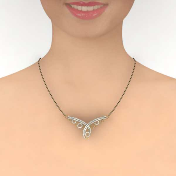 Glowing Circle Mangalsutra