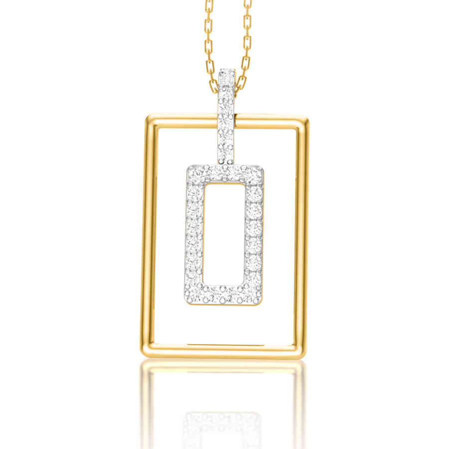Shining Square Diamond Pendant