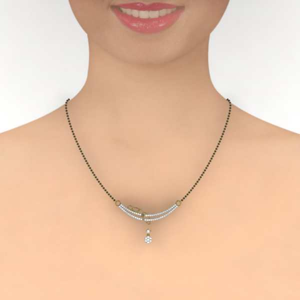 Drop With Flower Mangalsutra