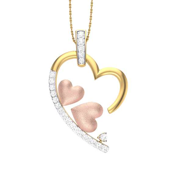Pink Love Diamond Pendant