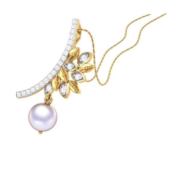 Pearl N Petals Diamond Pendant