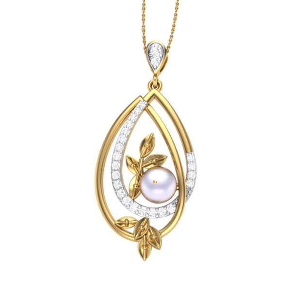 Dew n Pearl Diamond Pendant
