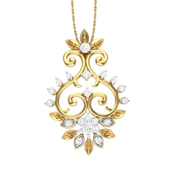 Shimmering Diamond Pendant