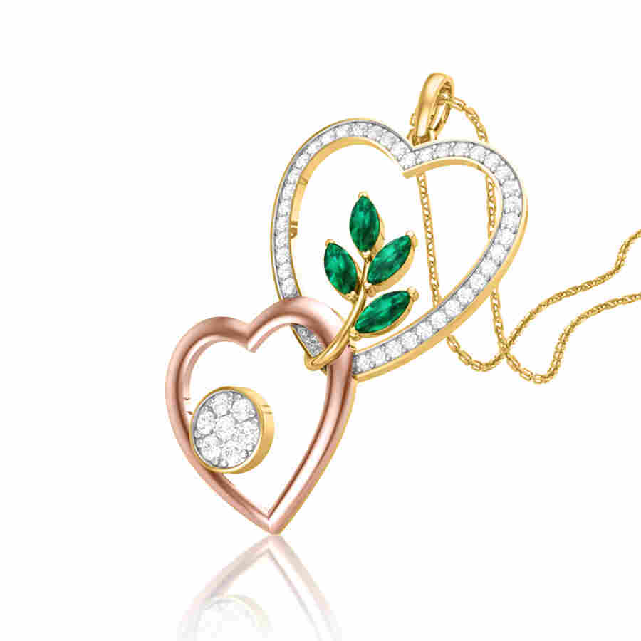 Love Unfolds Diamond Pendant