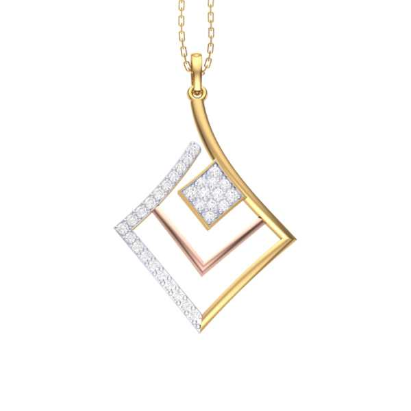 Rectangle Shape Diamond Pendan