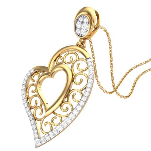 Glorious Heart Diamond Pendant