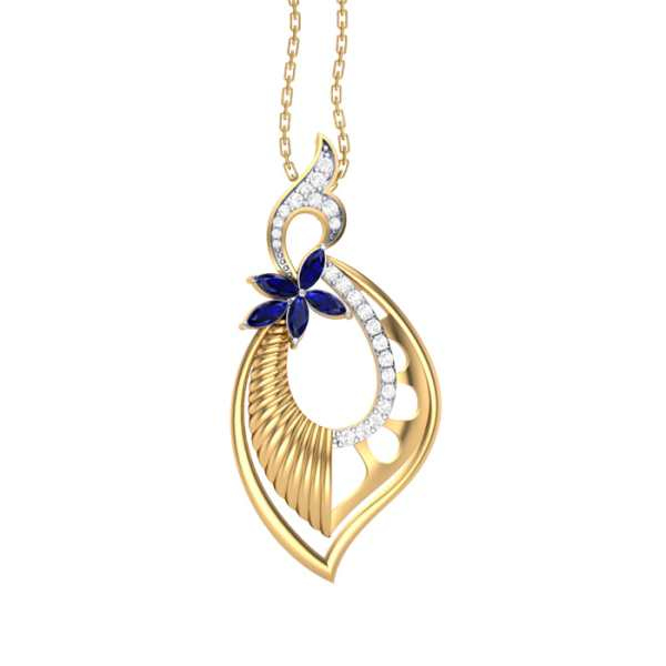 Love of Blue Diamond Pendant