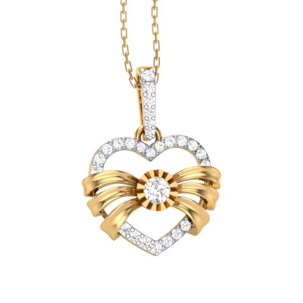 Bowed Love Diamond Pendant