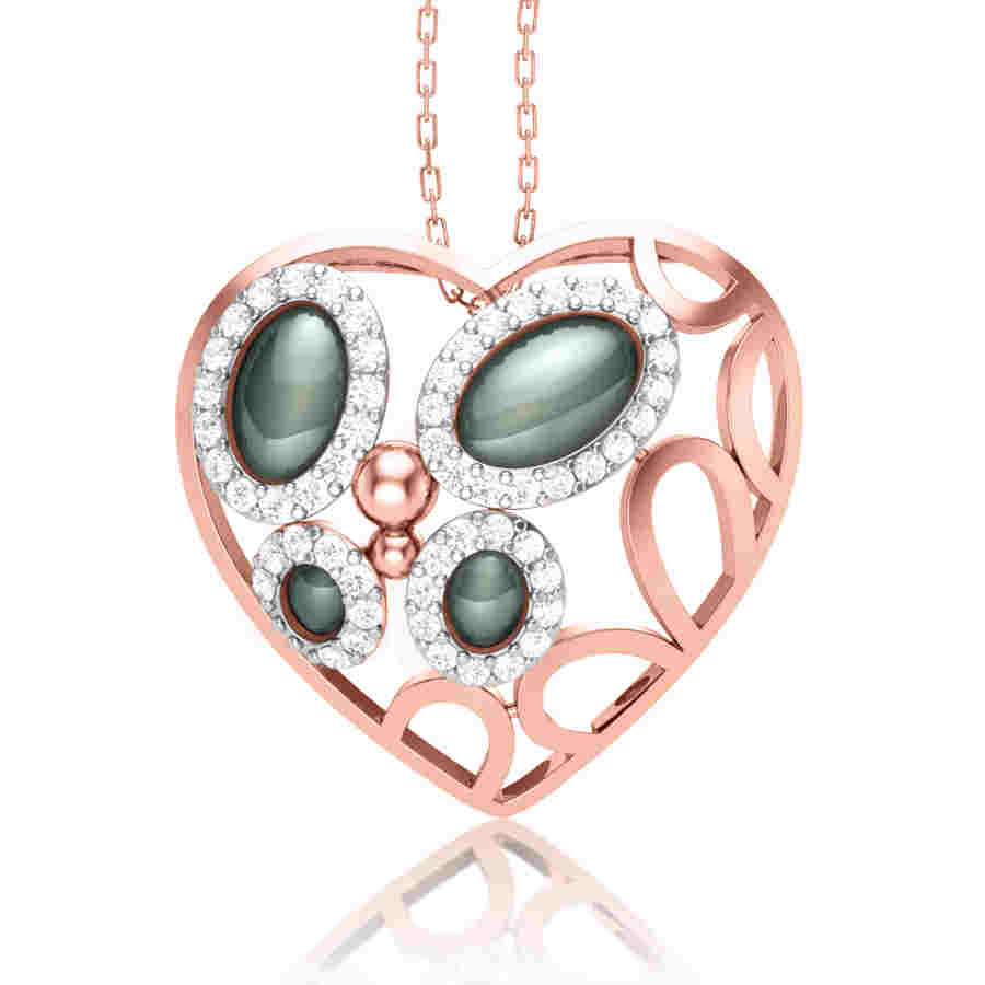 Love and Roses Diamond Pendant