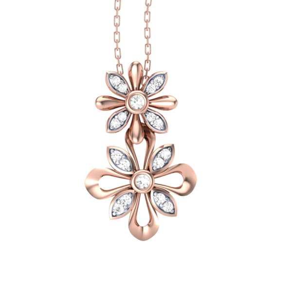 Hanging Flower Diamond Pendant