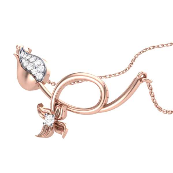 Rose n Petal Diamond Pendant