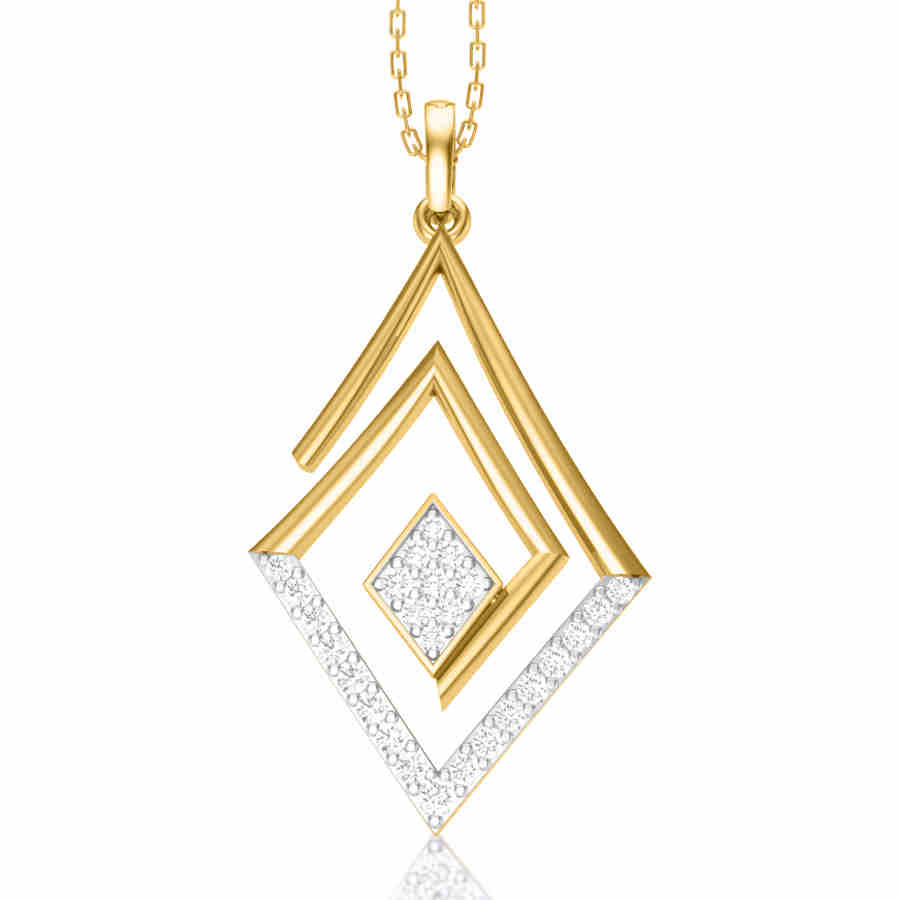 Hanging Square Diamond Pendant