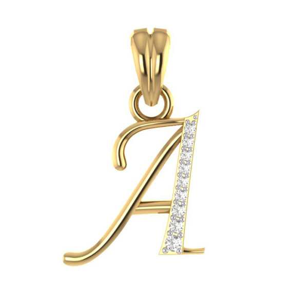 Stylish A Diamond Pendant