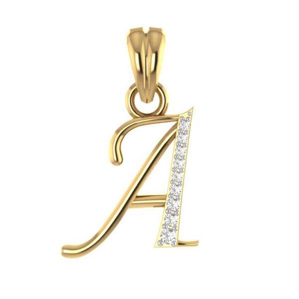 Stylish A Diamond Pendant