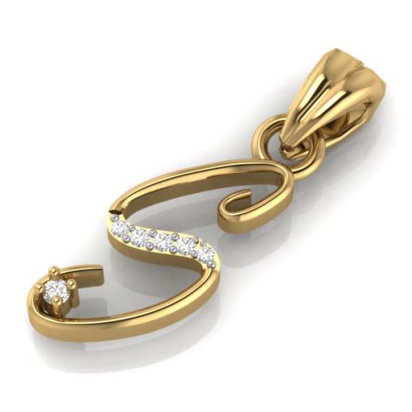 Stylish S Diamond Pendant