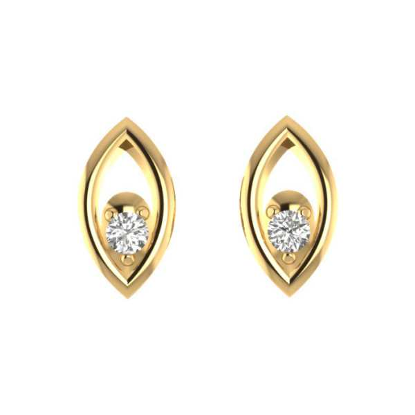 Short Earring With Diamond