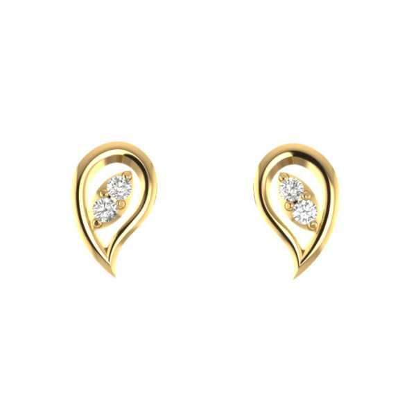 Baby Earring with Two Diamonds