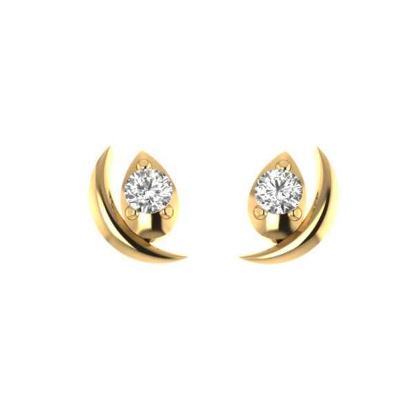 Half Moon With Diamond Earring