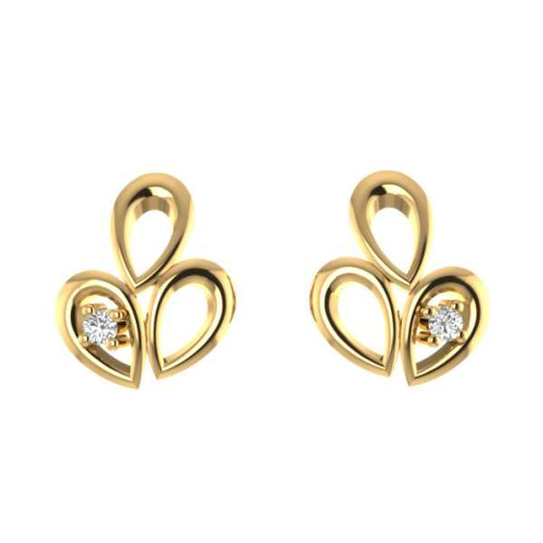 Dual Hearts Diamond Earring