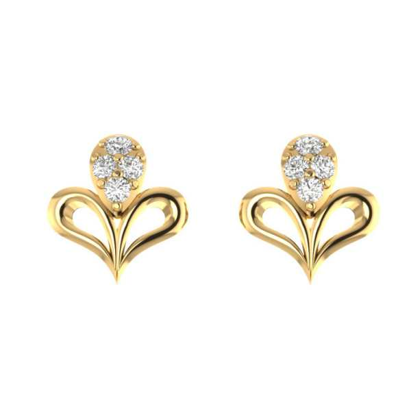 Four Diamond Earring