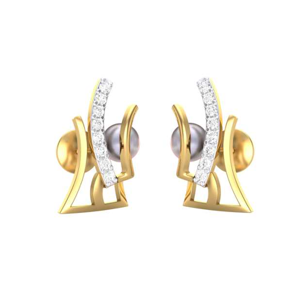 Trendy Lines Diamond Earring